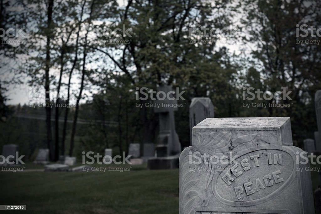 Gloomy Graveyard stock photo