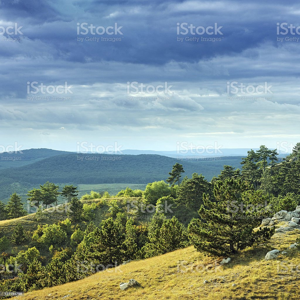 gloomy landscape royalty-free stock photo