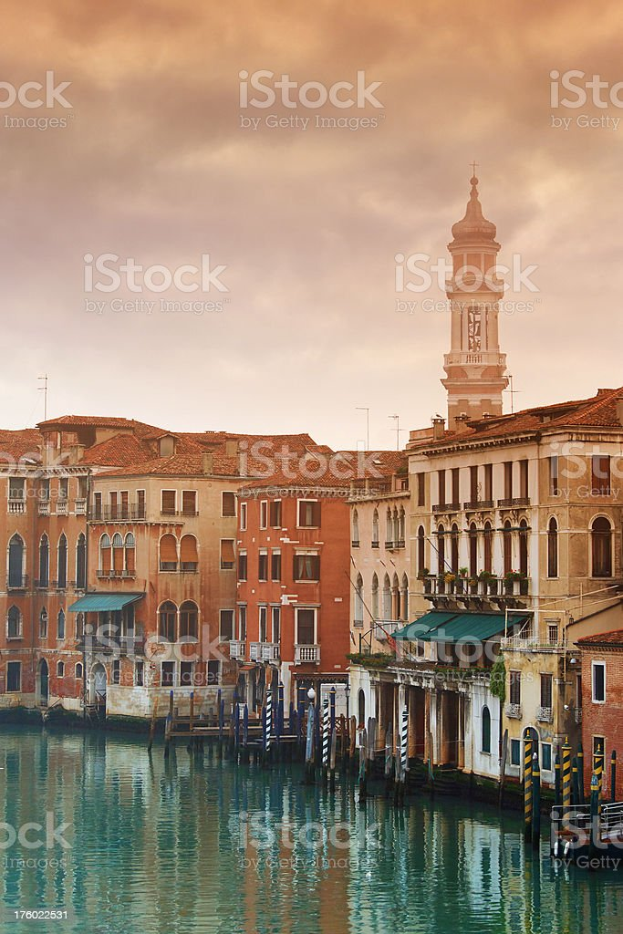 Gloomy morning in Venice royalty-free stock photo