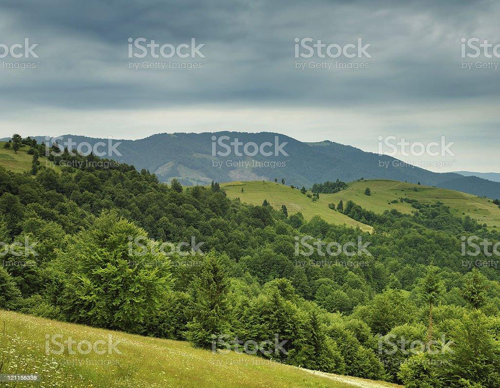 Gloomy mountains royalty-free stock photo