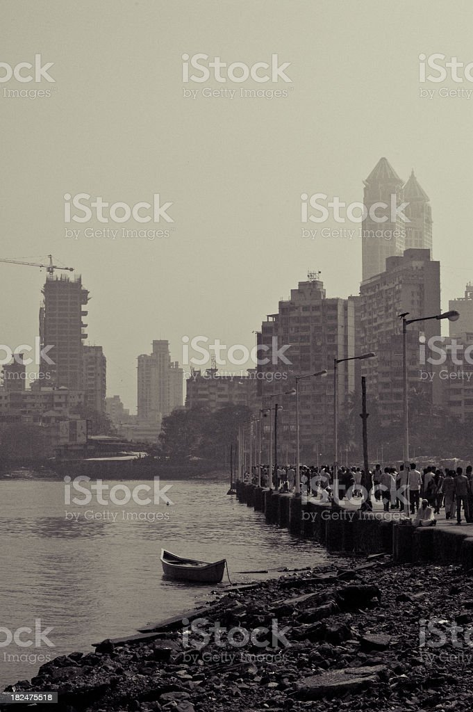 Gloomy Mumbai stock photo