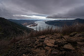 Columbia River Gorge views from Angels Rest, Oregon