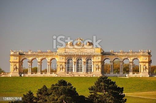 istock Gloriette in Schoenbrunn Park, Vienna Austria 1283017515