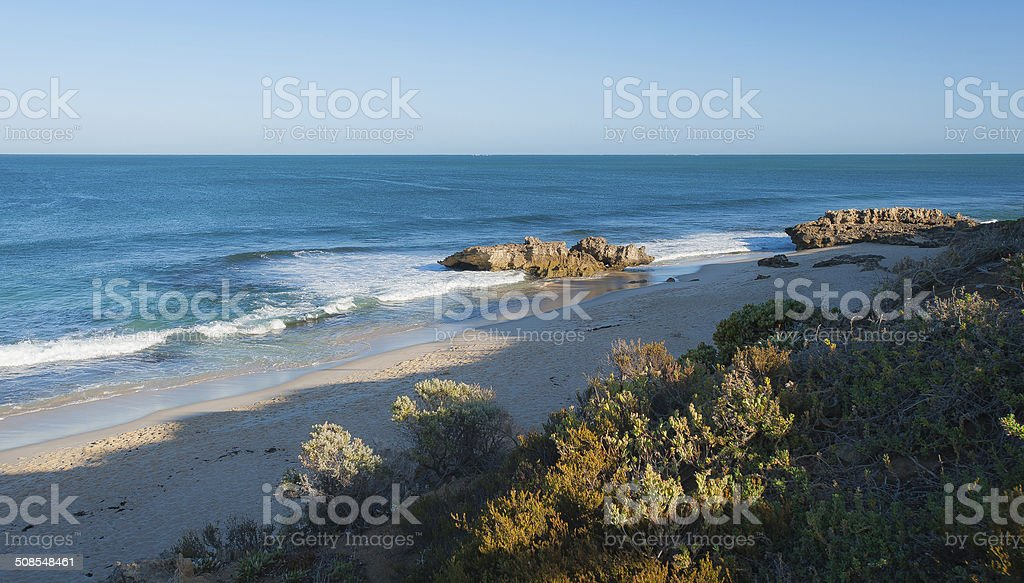 glorious beach and ocean morning -Perth stock photo