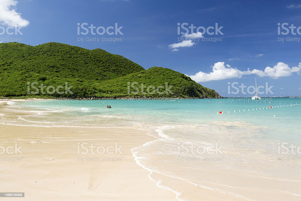 Glorious beach at Anse Marcel on St Martin stock photo