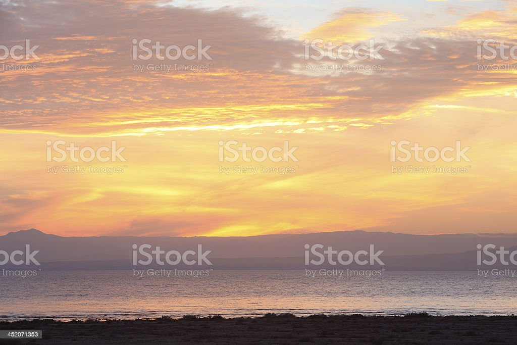 Glorious Color Over The Salton Sea stock photo