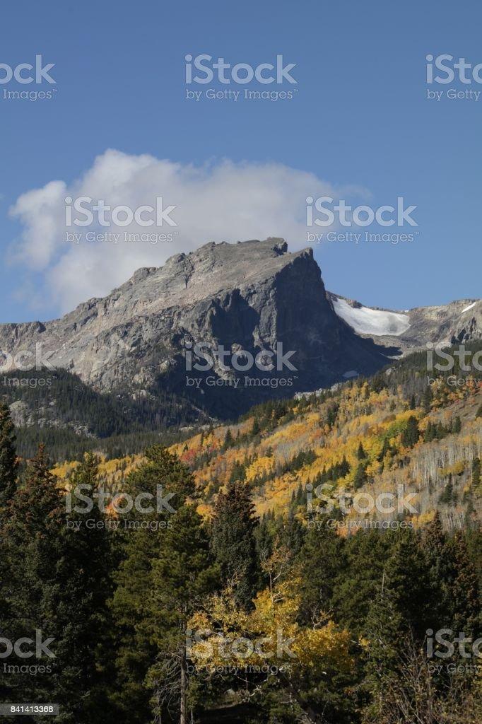 Glorious Hallet Mountain stock photo