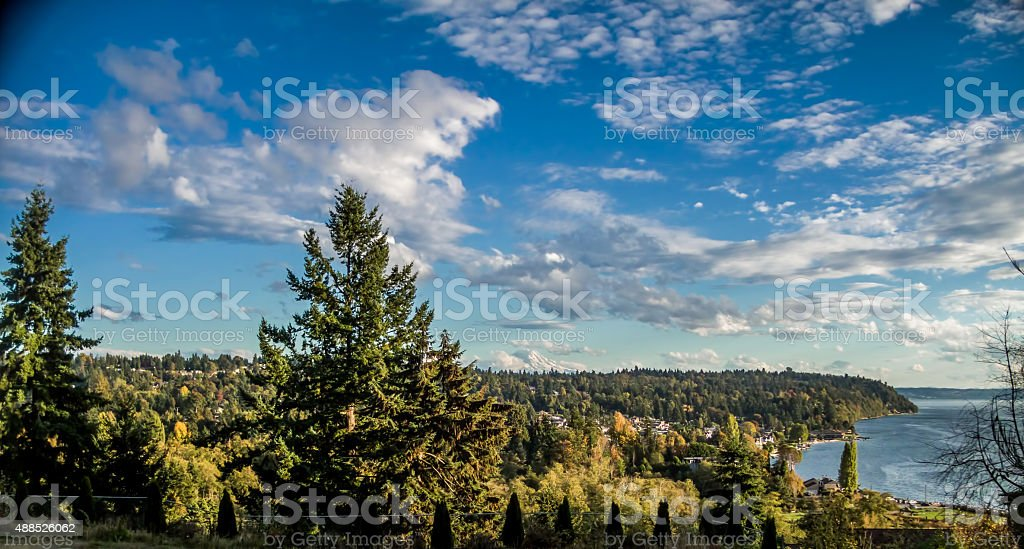 Glorious Pacific Northwest Day stock photo