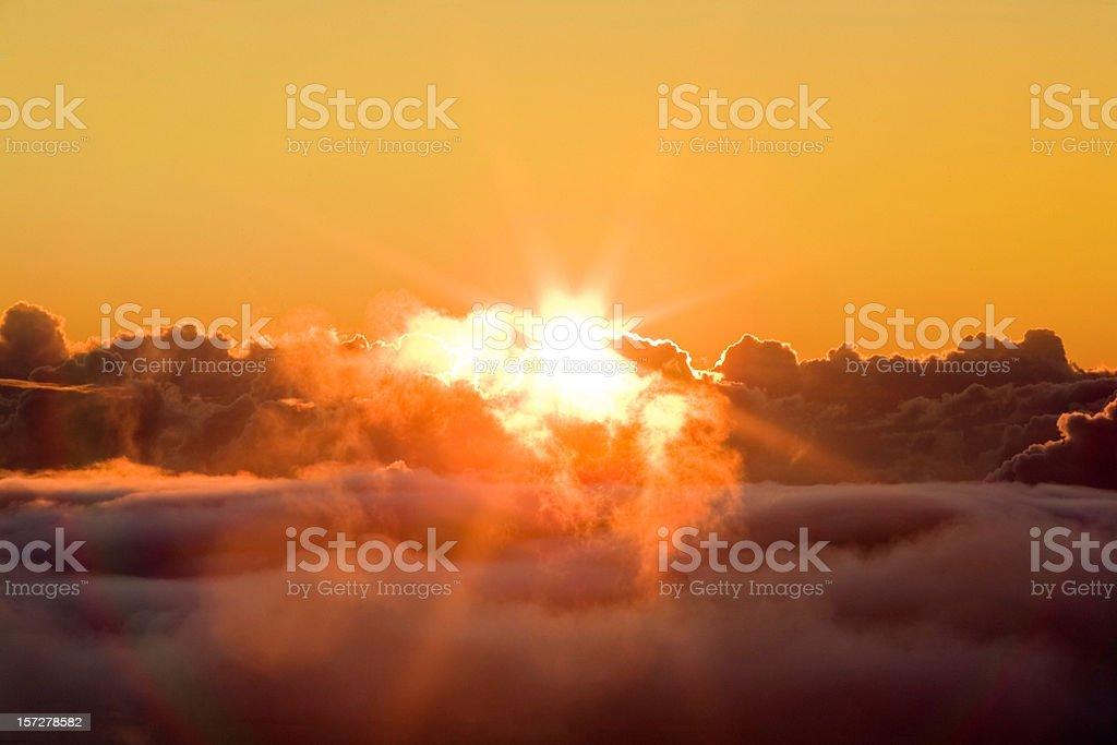 Glorious Sunrise (Closeup) royalty-free stock photo