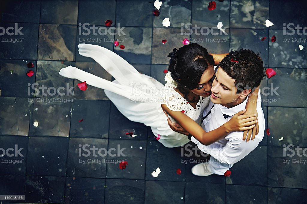 glorious wedding in Bali stock photo