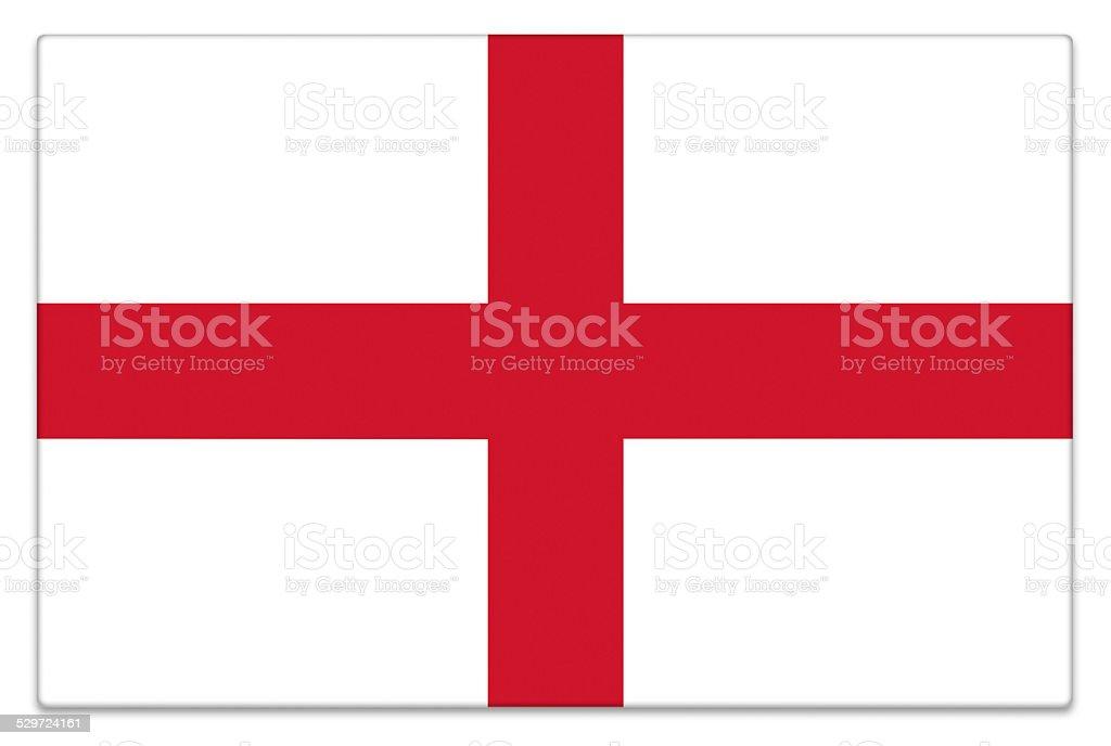 Gloss flag of England on white stock photo