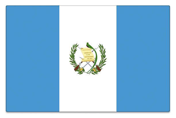 Brillo bandera de Guatemala sobre blanco - foto de stock