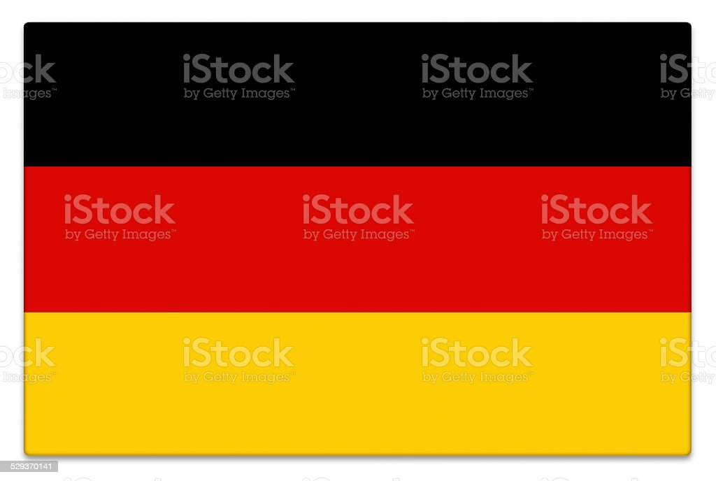 Gloss German flag on white stock photo