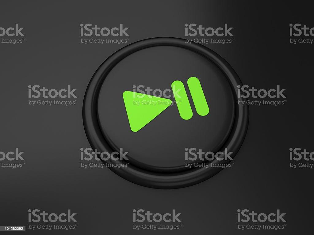 Brillo botón de reproducción - foto de stock