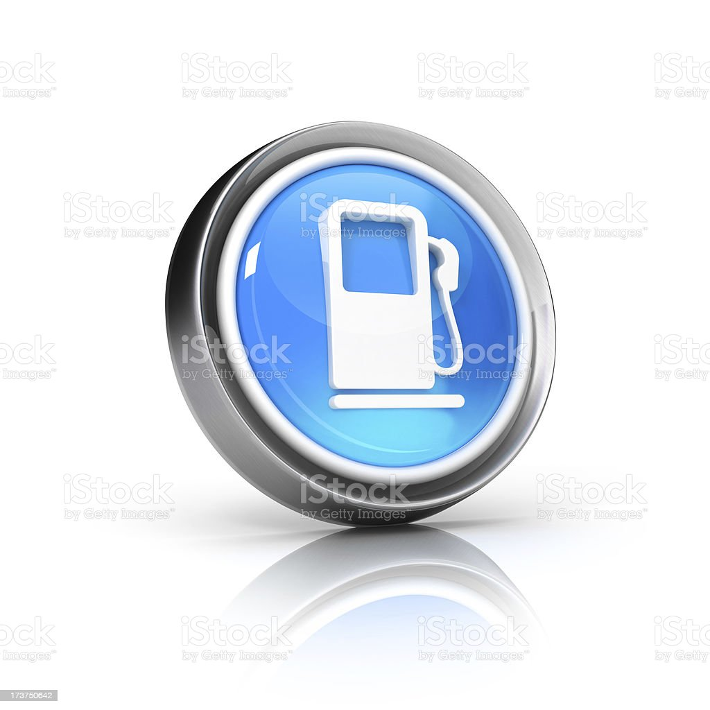 glossy 3d icon of gas station Symbol royalty-free stock photo