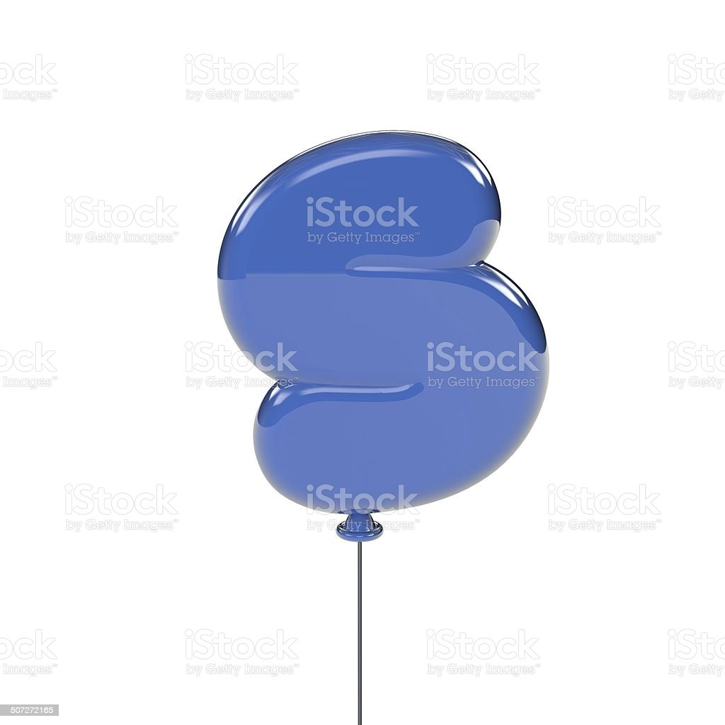A glossy balloon letter S. stock photo