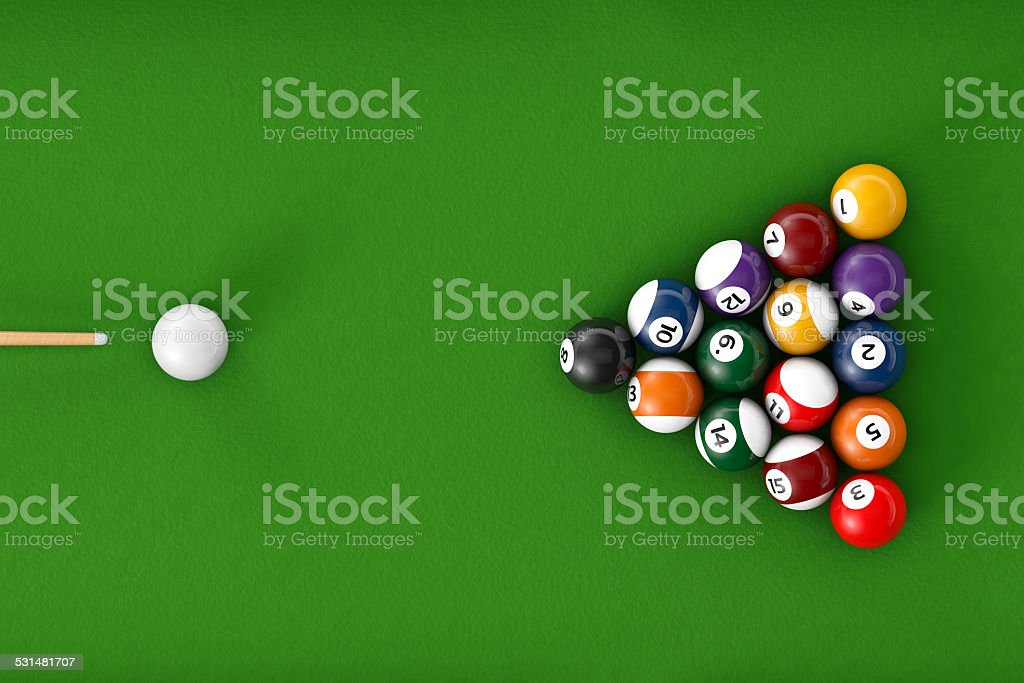 Boules de billard de brillant ensemble - Photo