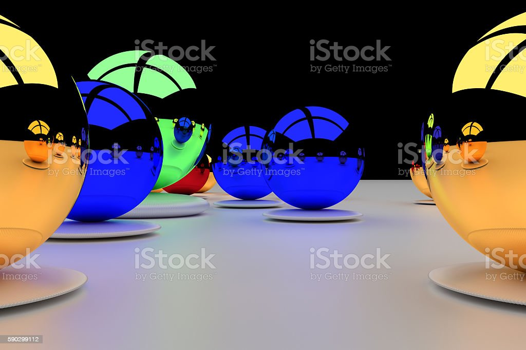 glossy, colorfull balls on a white surface royaltyfri bildbanksbilder