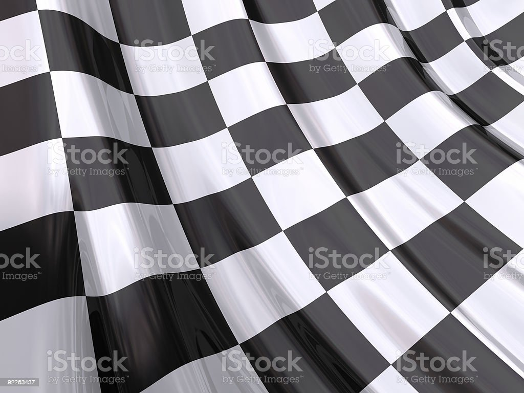Glossy Flag of End Race stock photo