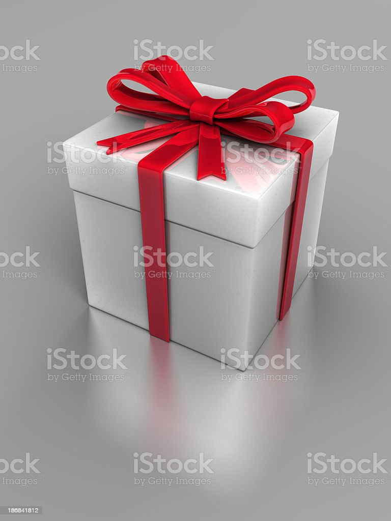 Glossy Gift Box stock photo