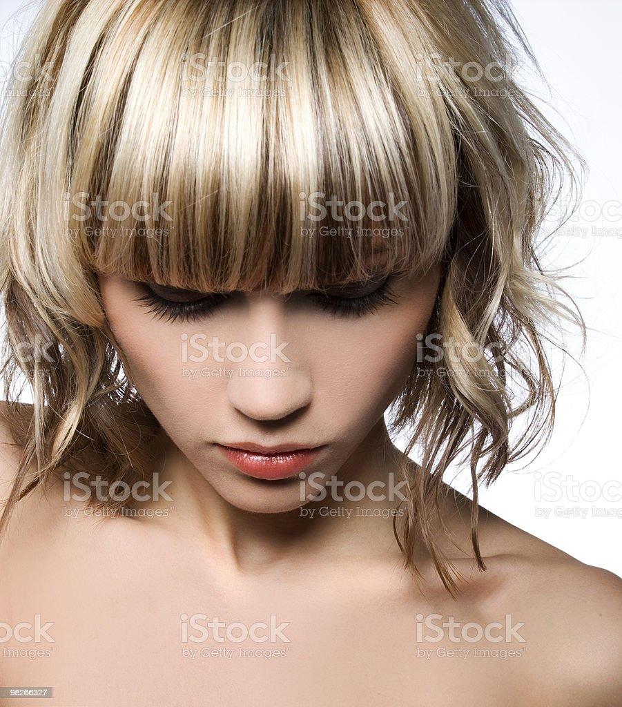 Glossy hair royalty-free stock photo
