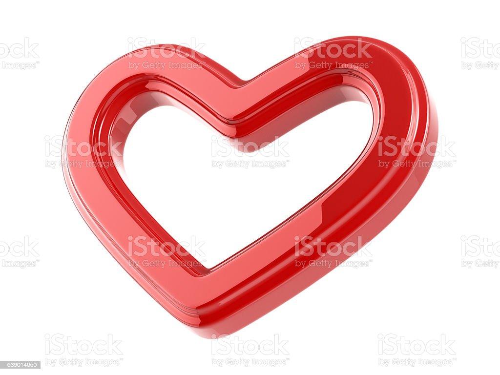Glossy Heart stock photo