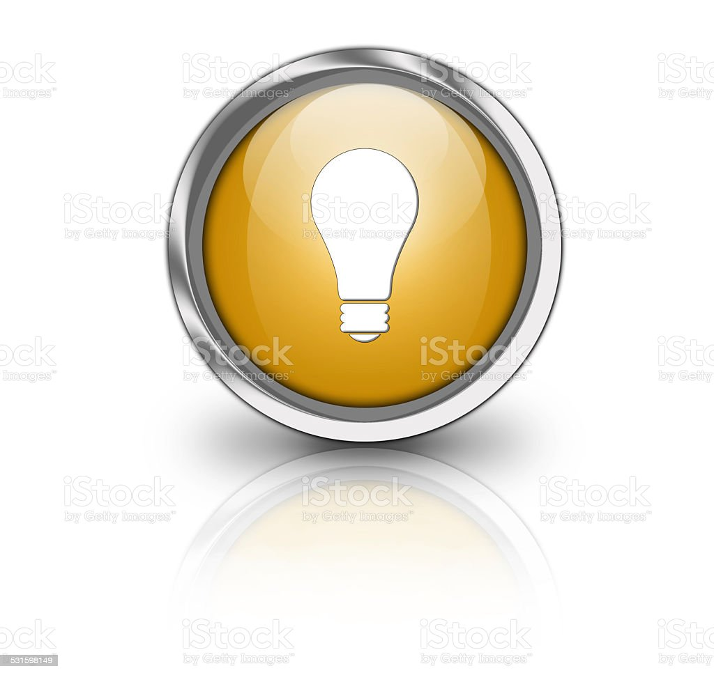 Glossy idea button stock photo