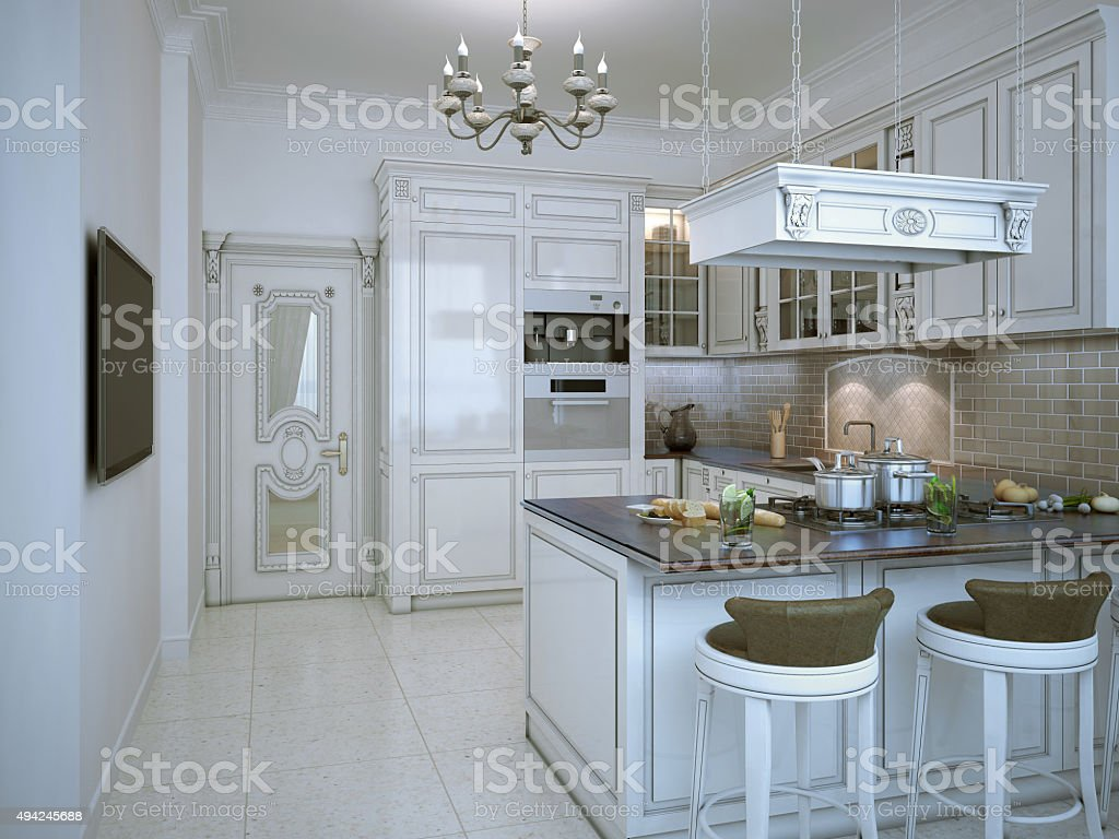 Glossy Kitchen Art Deco Style Stock Photo Download Image Now Istock