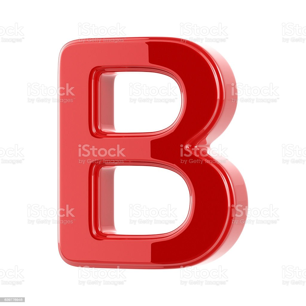 Glossy Letter B stock photo