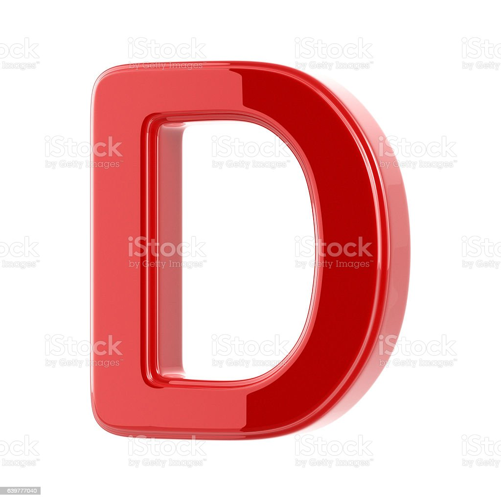 Glossy Letter D stock photo