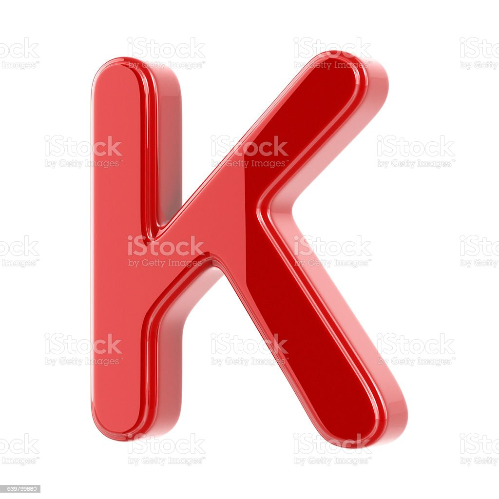Glossy Letter K stock photo