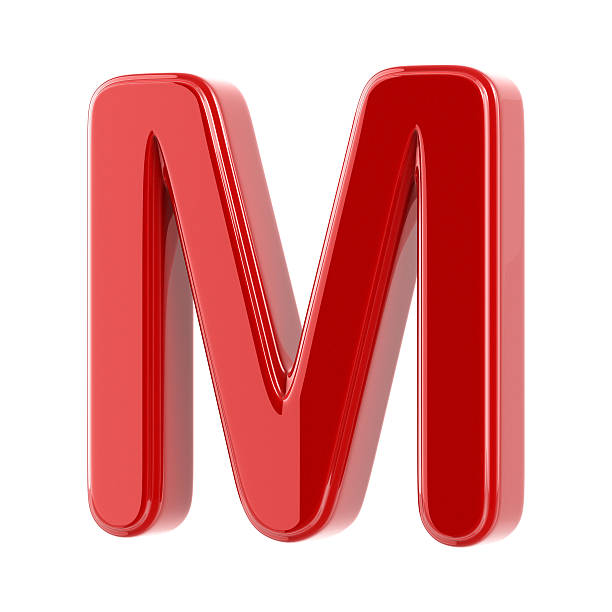 1f8514ce9f7f8c Top 60 Letter M Alphabet Three Dimensional Shape Red Stock Photos ...