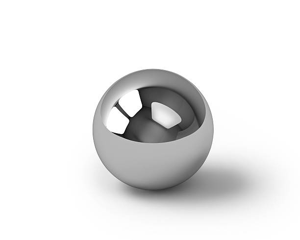 glossy metal sphere with clipping path - ball stock photos and pictures
