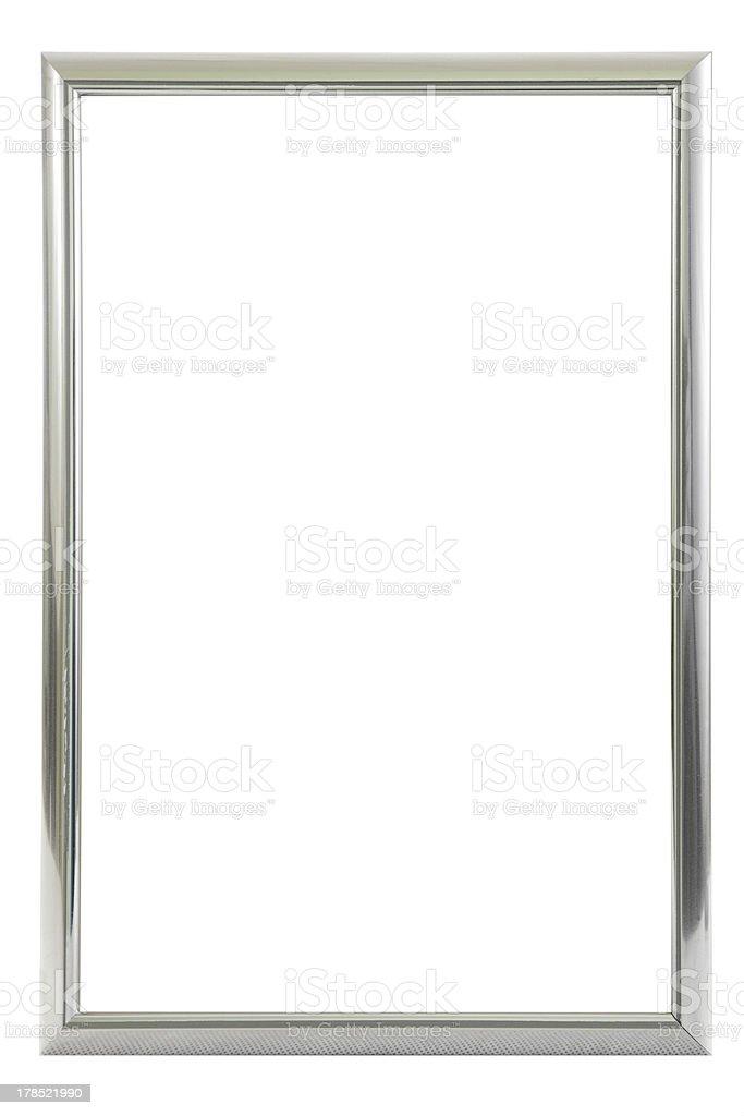 Glossy metallic frame stock photo
