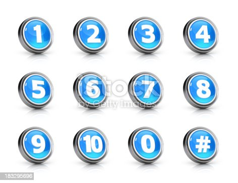istock Glossy numbers icon set 183295696