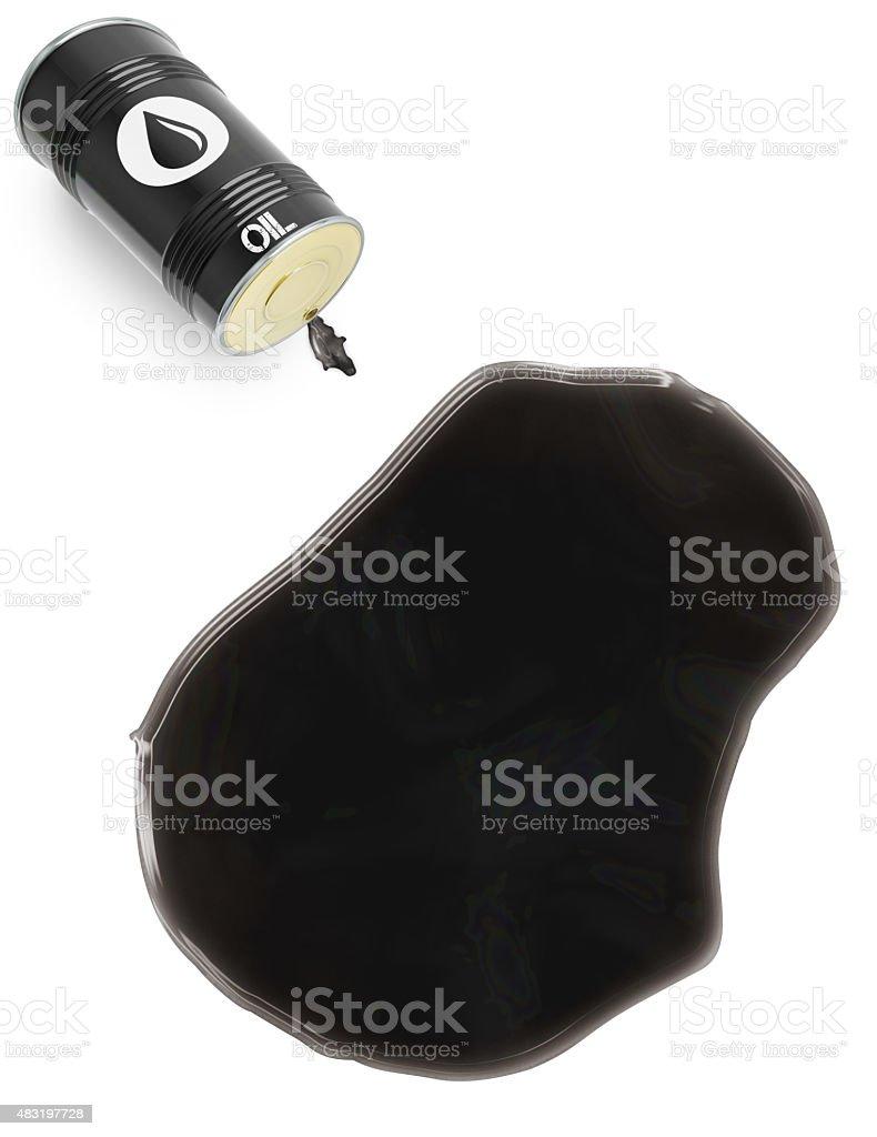 Glossy oil spill in the shape of Nauru (series) stock photo