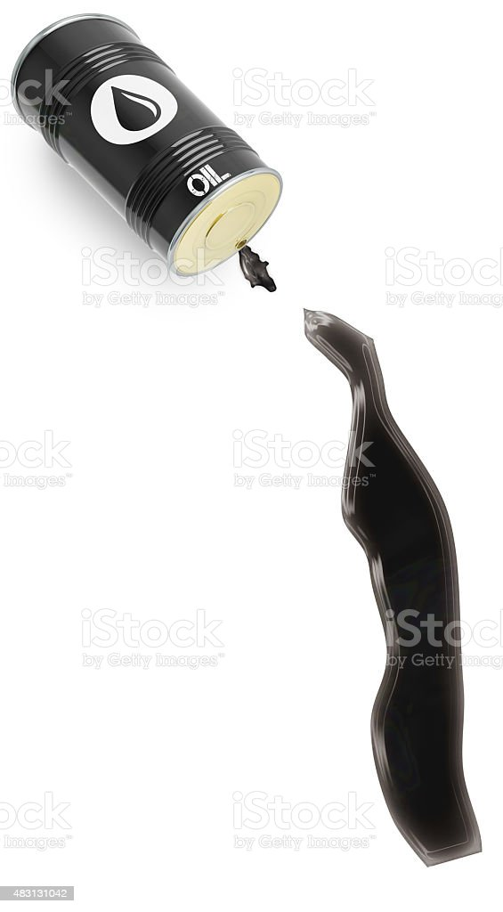 Glossy oil spill in the shape of Togo (series) stock photo