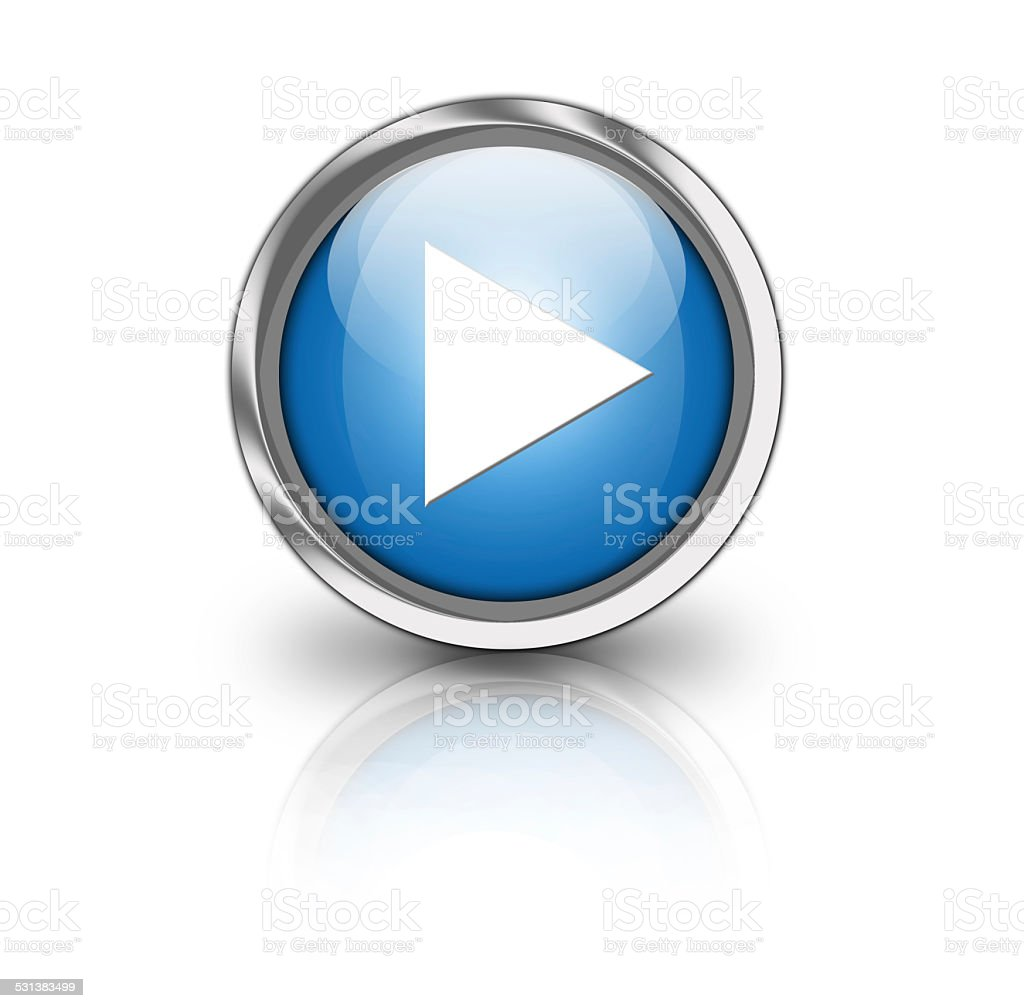 Glossy play button stock photo
