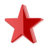 Glossy Red Star