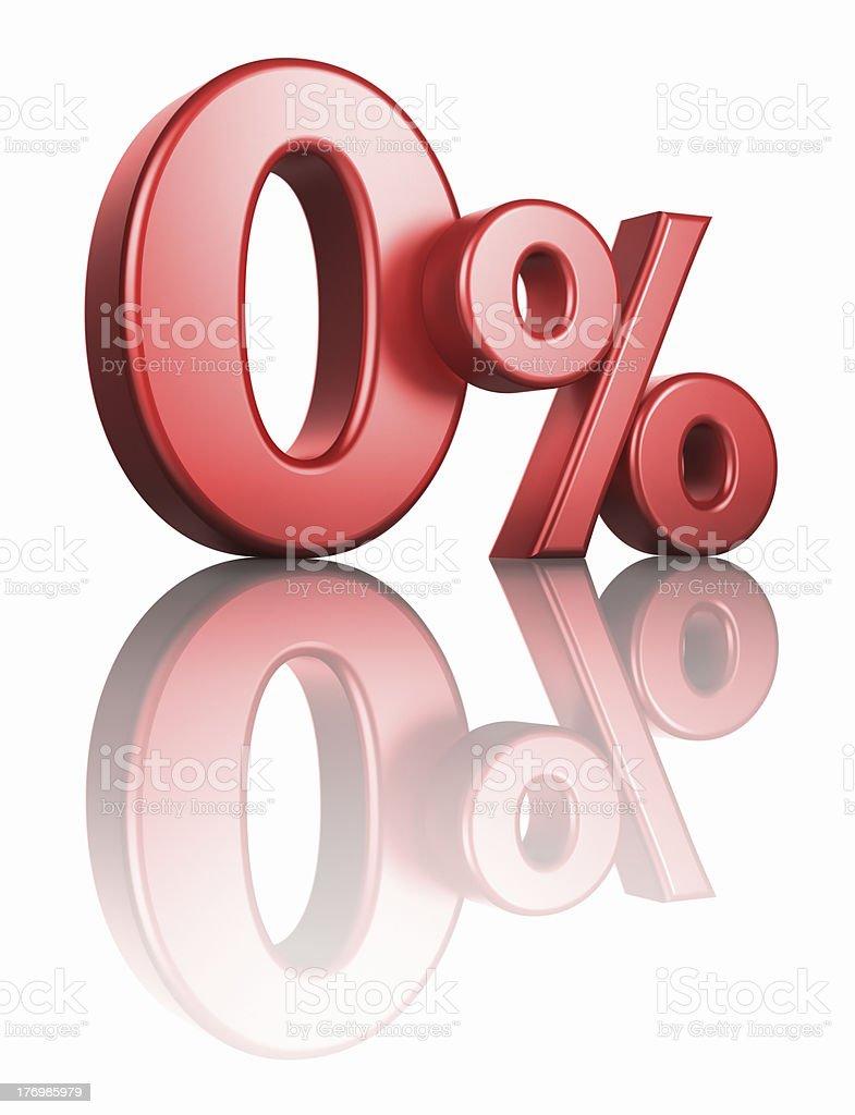 Glossy Red Zero Percent stock photo