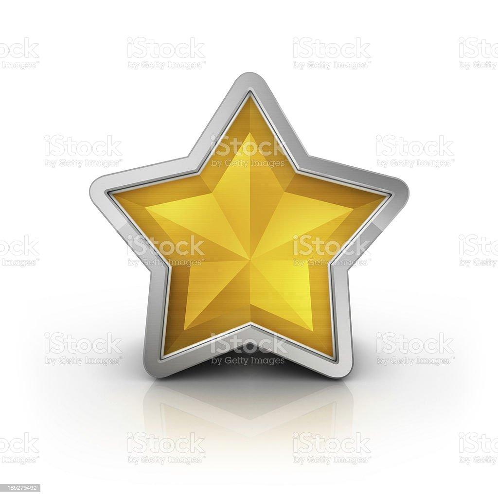 Glossy Star icon stock photo
