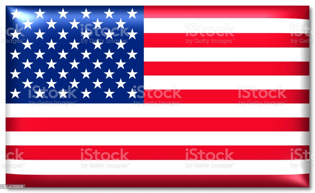 glossy usa national flag stock photo