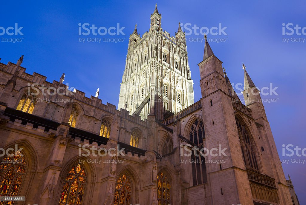 Gloucester Cathedral in Gloucestershire, England stock photo