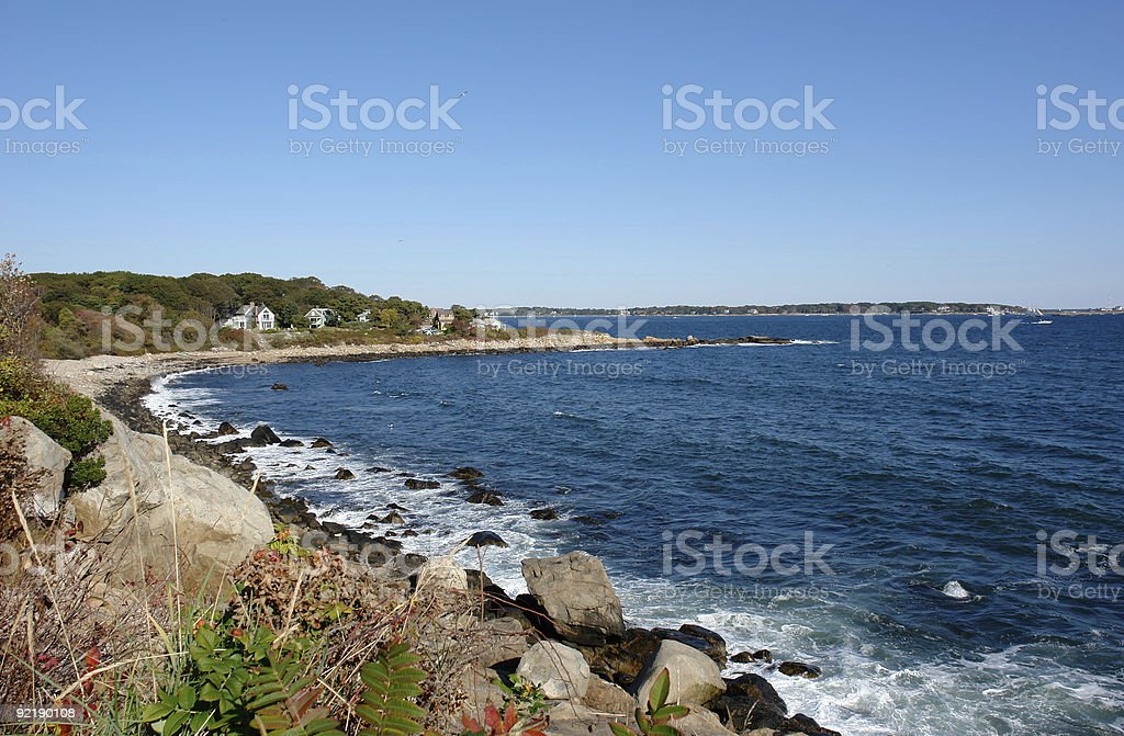Gloucester Coast Massachusetts royalty-free stock photo