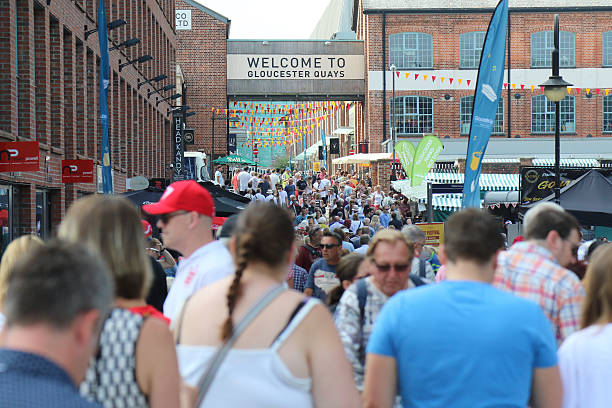 gloucester quays food festival 2016 - rikmcrae stock photos and pictures