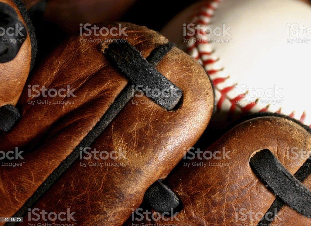 Glove and Baseball royalty-free stock photo