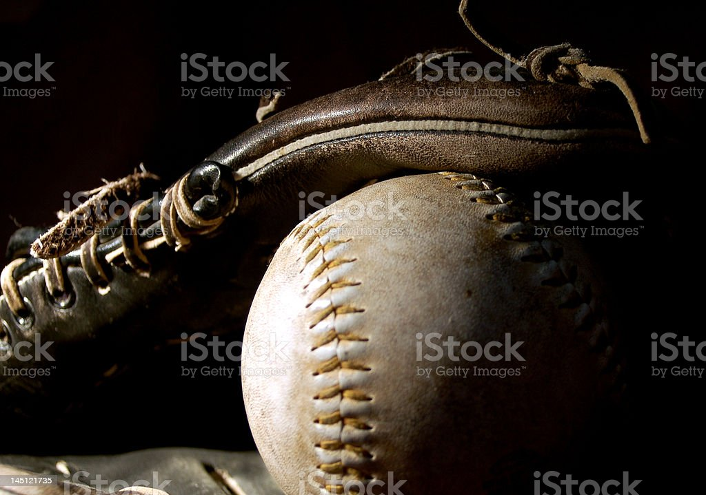 Glove and Mit royalty-free stock photo