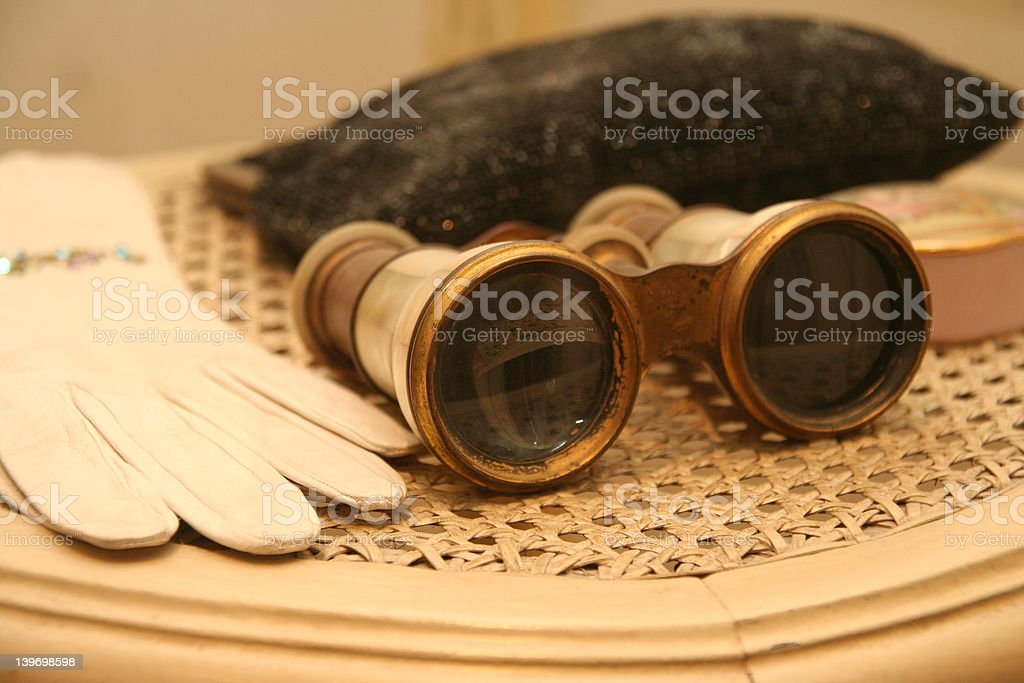 glove and viewing goggles stock photo