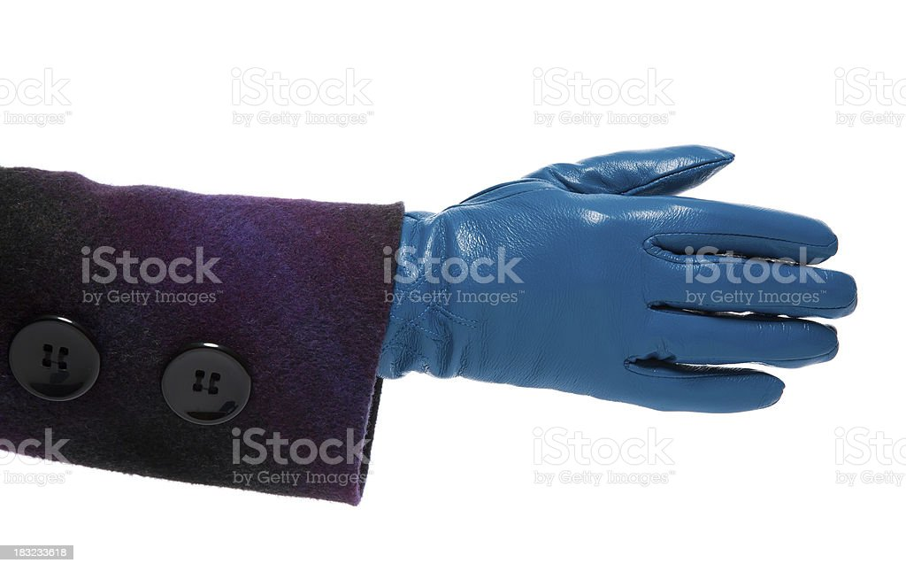 gloved hand royalty-free stock photo