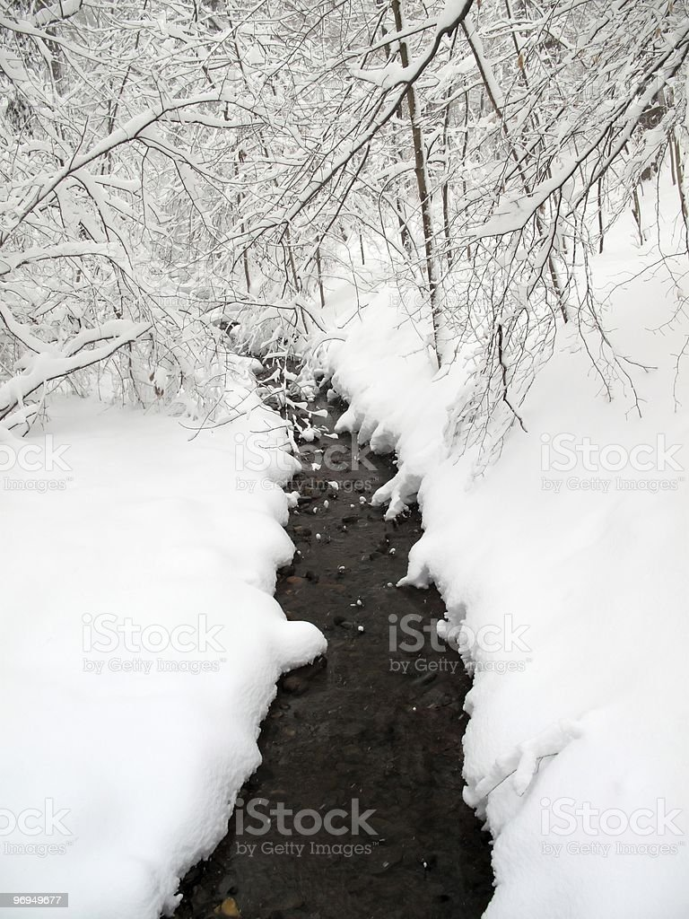 Glover Park Creek in February royalty-free stock photo